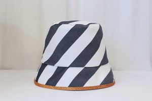 "MIND THE HAT ""Stripe hat""(black)"