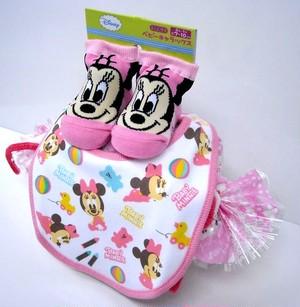 ご出産お祝い<おむつケーキ> リーズナブルなお値段のかわいいおむつケーキ ディズニーSRK (女の子用ミニー)