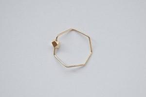 siki    七角形とカケラのリング(K10YG)