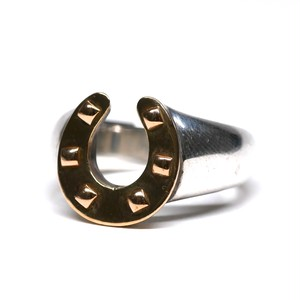 Hermès Vintage Sterling Silver & 18k Gold Ring