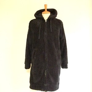 Boa Fleece Long Parka Black