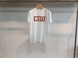"""WESTOVERALLS """" WEST'S T-SHIRTS """" WHITE / RED"""