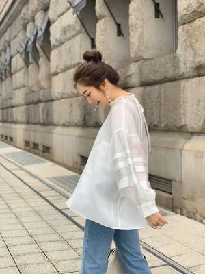 【予約】 sheer cloudy blouse / white  (3月中旬発送予定)