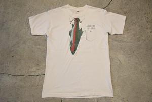 USED 80-90s ANGLERS TUXEDO T-shirt -Large 0931