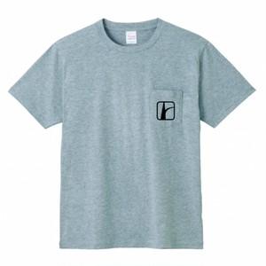 ロードトリップロゴ胸ポケTシャツ グレー×黒