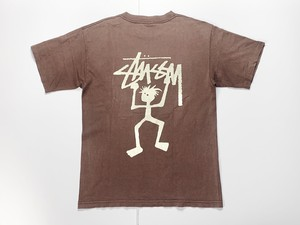80s STUSSY オールドステューシー 黒タグ USA製 Tシャツ L