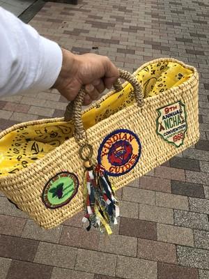 Decorated Basket, Yellow Bandana