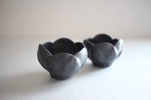 村上直子|黒釉 つぼみ鉢