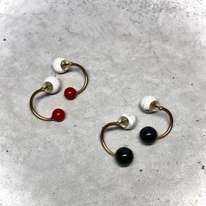 【LP-41BR】Change pierced / dyed coral                                                                                          【LP-42BR】Change pierced / onyx