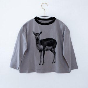 《michirico 2020AW》Deer longsleeveT / ashgray / L・XL