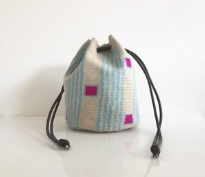 ワユーバッグ(Wayuu bag) Exclusive line 巾着 Mサイズ