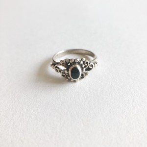 silver 925 onyx pinky ring #3[r-131]
