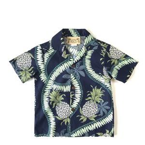 キッズアロハ  / セットアップ (上下セット)Lei pineapple  size 4才