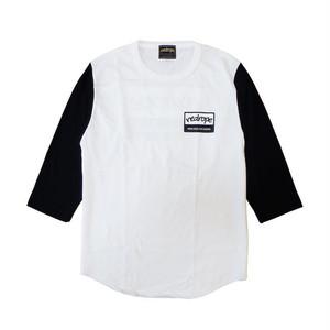【WHRH BB TEE】white/black