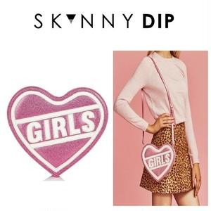 skinnydip スキニーディップ ロンドン の ショルダーバッグ 斜め掛け レディース 収納 GIRLS CROSS BODY BAG クロスボディ バック ブランド 斜め ハート