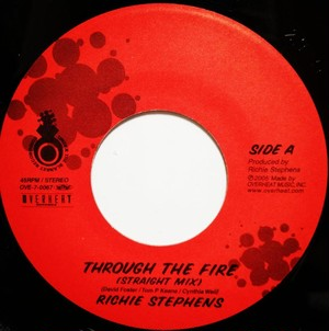 "THROUGH THE FIRE / RICHIE STEPHENS  (7""EP)"