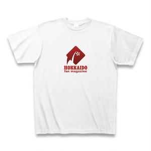 北海道ファンマガジンロゴTシャツ(白地・赤マーク)