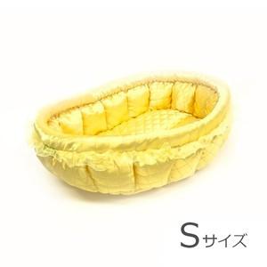 ふーじこちゃんママ手作り ぽんぽんベッド (サテンイエロー) Sサイズ 【PB20-069S】