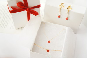 【♡Gift BoX♡】Leather Heart♡ 3点Set
