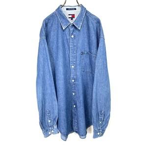 【TOMMY HILFIGER】Denim long-sleeved shirt