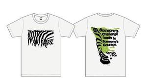 TEAM A☆H☆O ナミブ砂漠レースTシャツ(ホワイト)