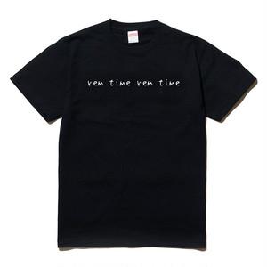 rem time rem time SHIRTS (BLACK)
