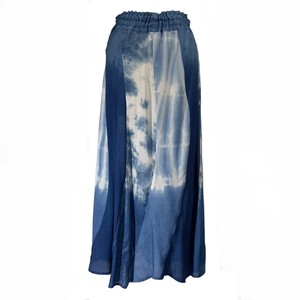 藍染めマーメイドスカート