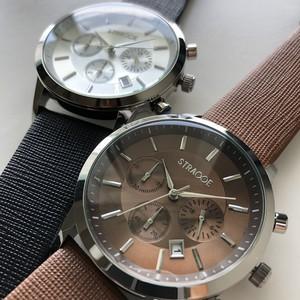 STRASSE クォンタイムビジネス腕時計(ブラック・ブラウン)