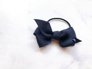 medium hair bow【navy】