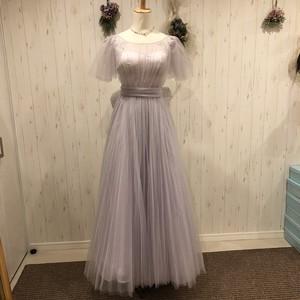 フレア袖カラードレス
