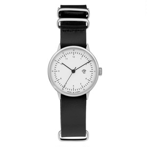 HAROLD MINI【CHPO】 White dial. Black leather strap