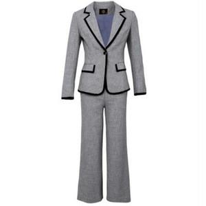 送料無料スーツセットアップ/ポイントラインジャケット+パンツ
