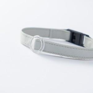 【猫にやさしい布首輪】ミントグリーン 軽量3g やわらか 安全 シンプル ペットシッター考案