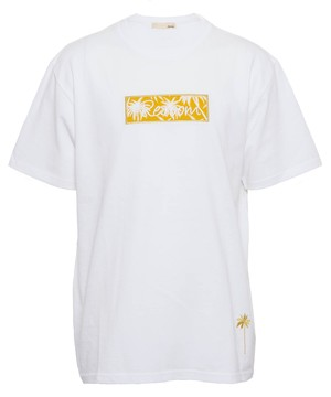 PALM TREE PATTERN BOX LOGO BIG T-shirts[REC357]