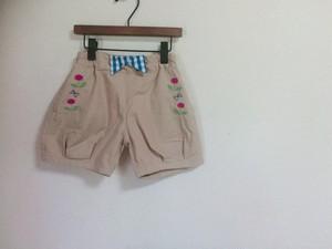 プチジャムのお花刺繍ショートパンツ