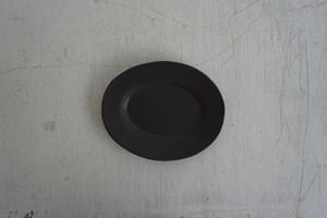 眞砂眞砂子 オーバルリムプレート SS 黒