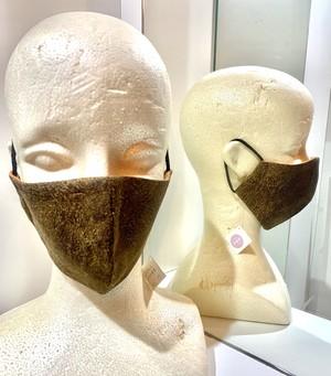 レザー柄マスク