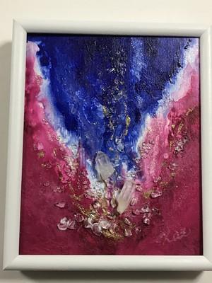 絵画(アクリル画クリスタルコラージュ) Queen's Wing 女王の翼