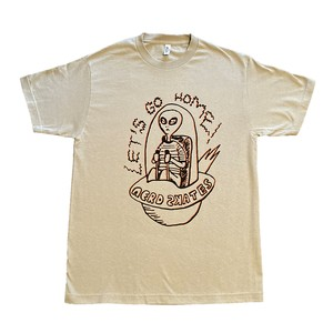 LET'S GO HOME ALIEN TSHIRT(SAND)