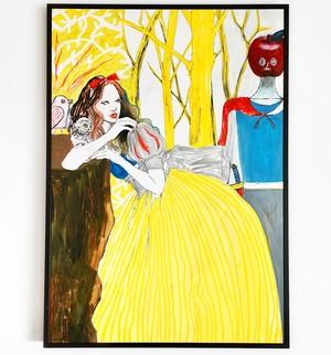 【B】原画「白雪姫と毒リンゴ王子」2017年制作