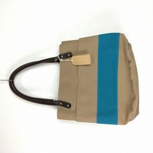 【新品】hobo / ホーボー   レザーハンドルキャンバストートバッグ   ブルー