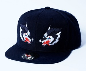 2018 TWIN WOLF Snap Back Cap Black