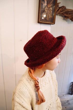 bordeaux knit hat.(b132)