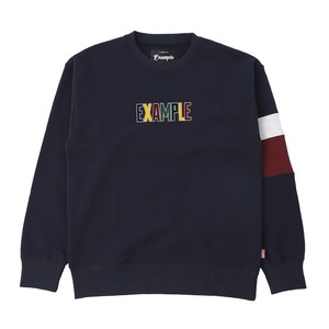 FROCKY MULTI COLOR LOGO SWEAT CREW NECK / NAVY