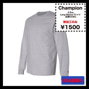 <<無加工のみ>> Champion 5.2oz Long Sleeve Tシャツ (品番CC8C)