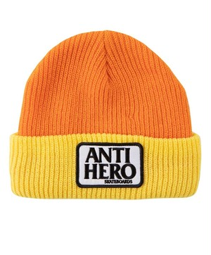 ANTIHERO Reserve Patch Beanie Orange Yellow