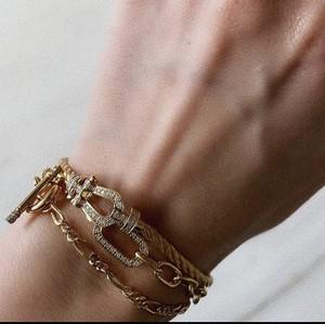 UCB-8G  Dual chain Bracelet M 35cm