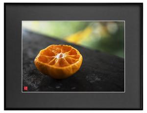 バルコニーのオレンジ(ブラックボード)A3サイズ