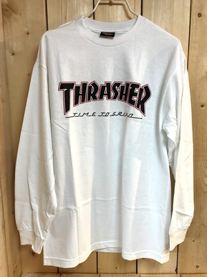 INDEPENDENT x THRASHER TTG L/S Tee WHITE