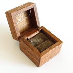 [OUTLET] 指輪入 1つ用 留具のアウトレット(リングケース/ウォールナット)